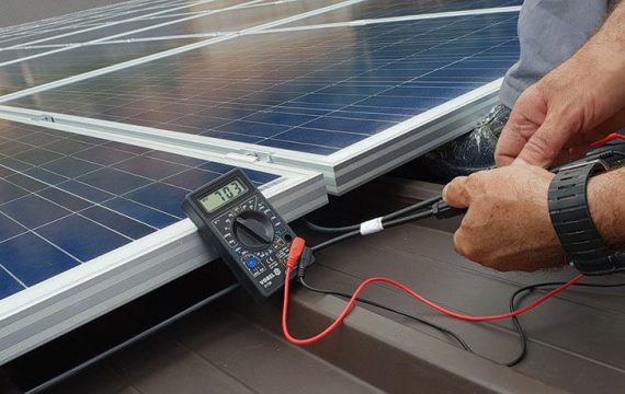 Instalação cabo solares